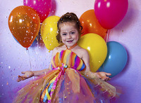 Summer Rainbow Girls Clothing For Girl Dress Colorful Baby Infant Tutu Dresses For Girls Rainbow Party