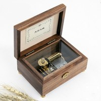 Walnut Music box music Box Birthday creative gift Free shipping