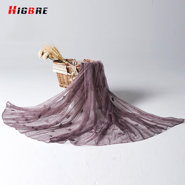 New Women 100% Natural Pure Silk Scarf Luxury Brand 2017 Long 190*90cm Female Scarves Wraps Thin Models Plus Size Shawls Beach