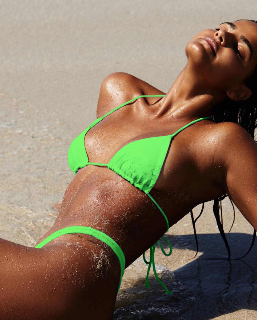 Неоновый зеленый бикини купальник со стрингами купальник с высокими плавками для плавания сексуальный купальник пуш-ап купальник женский купальный костюм бикини 2019