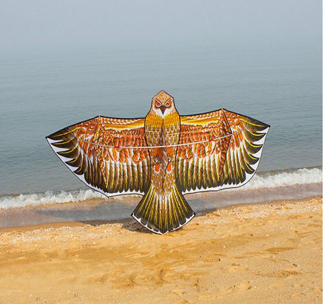 O envio gratuito de alta qualidade 3.6 m de ouro águia pipa nylon ripstop tecido grande pipa voando brinquedos fábrica com a linha pega poder pipa