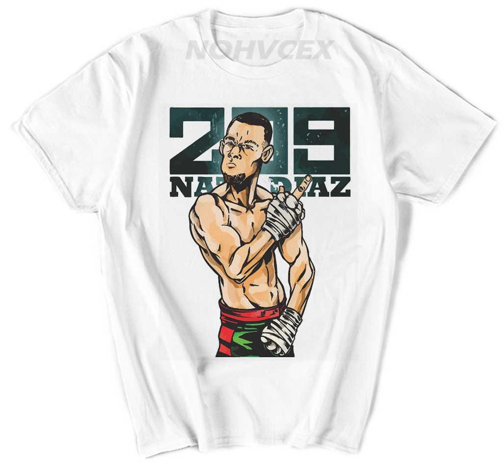 Nate Diaz Conor McGregor divertido nuevo MMA T camisa corta de algodón o-Cuello estilo T shirt