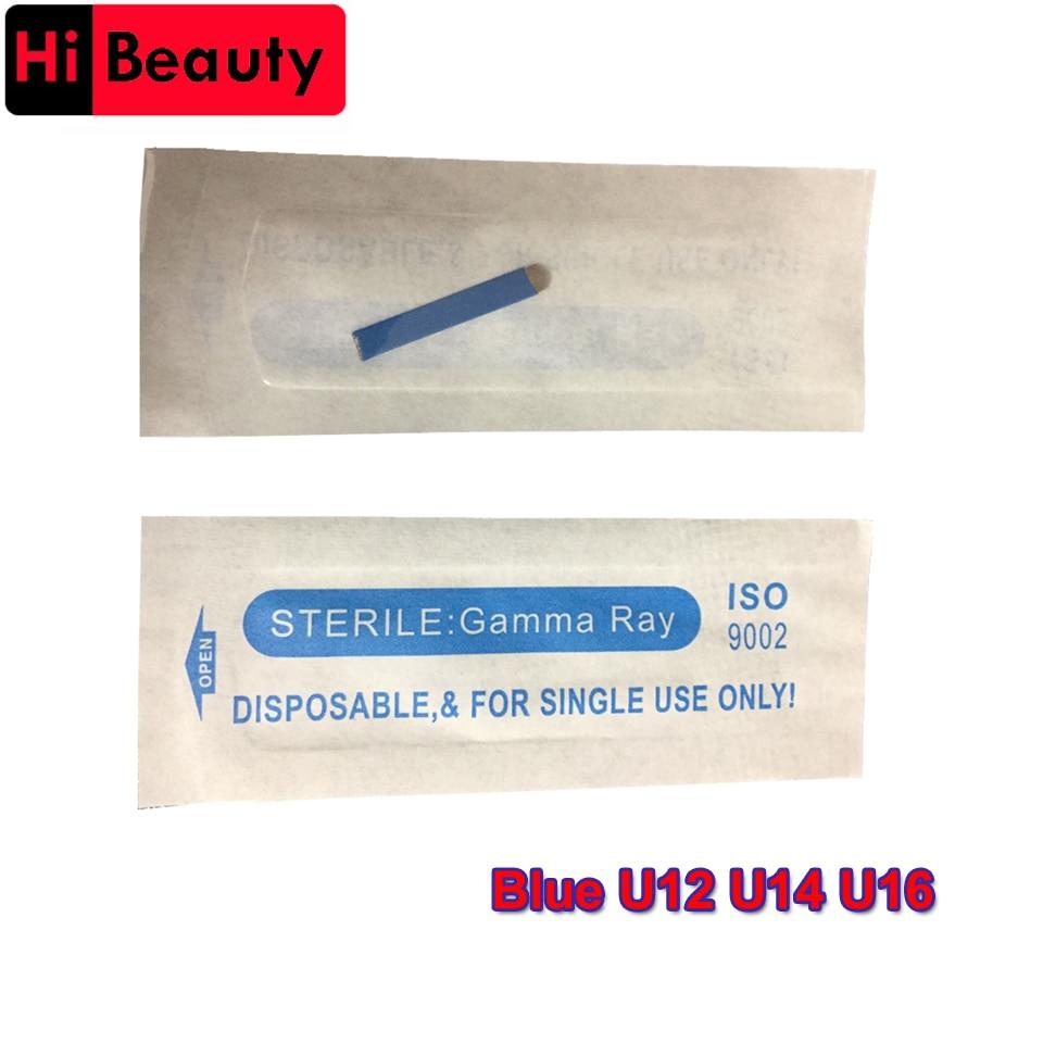 5pcs/lot Disposable Blue Permanent U12 U14 U16 Manual Eyebrow Tattoo Needles Blade For 3D Embroidery Microblading Tattoo Pen зонт remax rt u12 dark blue