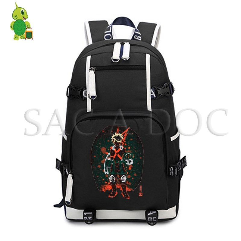 Boku No Hero Academia Deku/Bakugou Fluorescence Backpack Women Men Laptop Backpack School Bags for Teenagers Casual Travel BagsBoku No Hero Academia Deku/Bakugou Fluorescence Backpack Women Men Laptop Backpack School Bags for Teenagers Casual Travel Bags