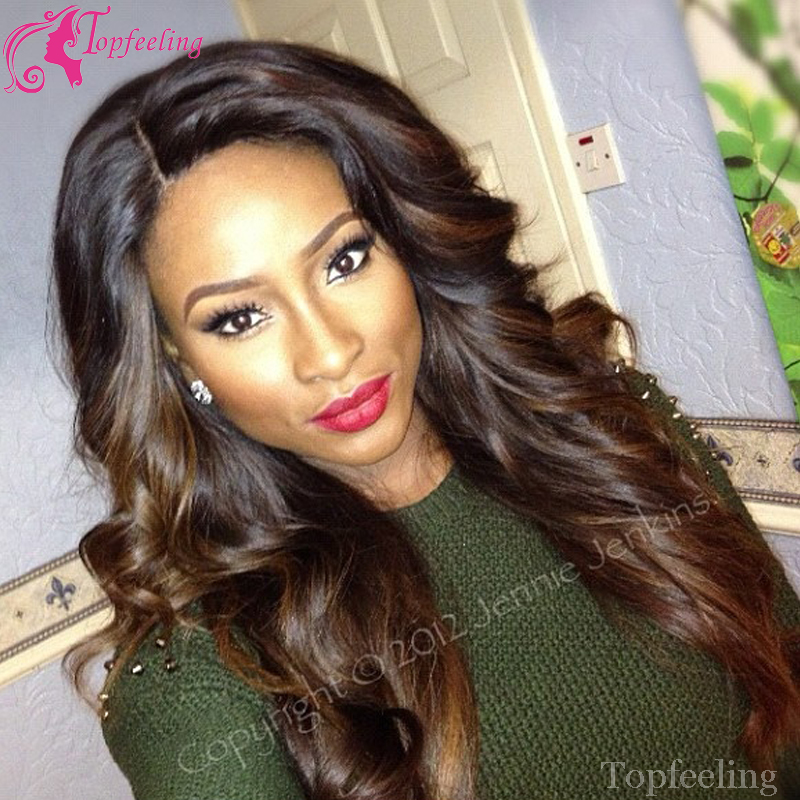 7A High Quality Ombre Lace Wig Two Tone Glueless Full Lace