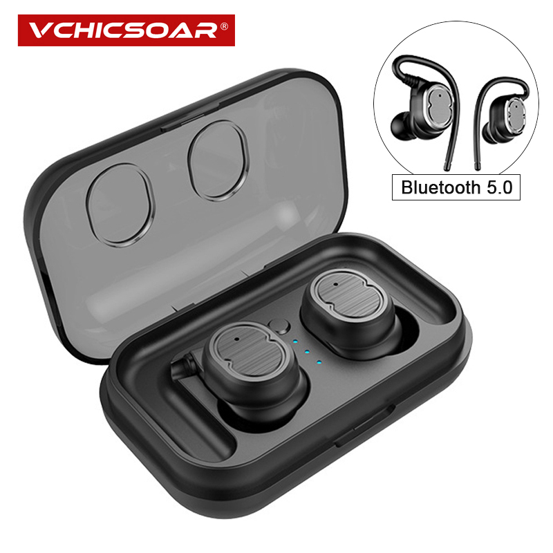 Vchicsoar T9 TWS Wireless Bluetooth Earphones Sports Stereo Headphones V5.0 Touch Control Headset Earbuds with Mic for iPhone цена