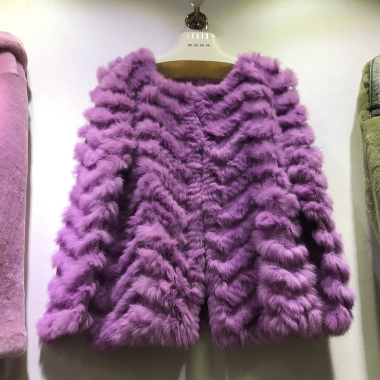 HOT STYLE REAL RABBIT FUR JACKET female rabbit fur COAT spring AUTUMN OUTWEAR fashion sweater femme