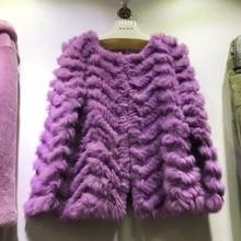 HOT STYLE REAL RABBIT FUR JACKET female rabbit fur COAT spring AUTUMN OUTWEAR fashion sweater femme cardigants o neck black rose