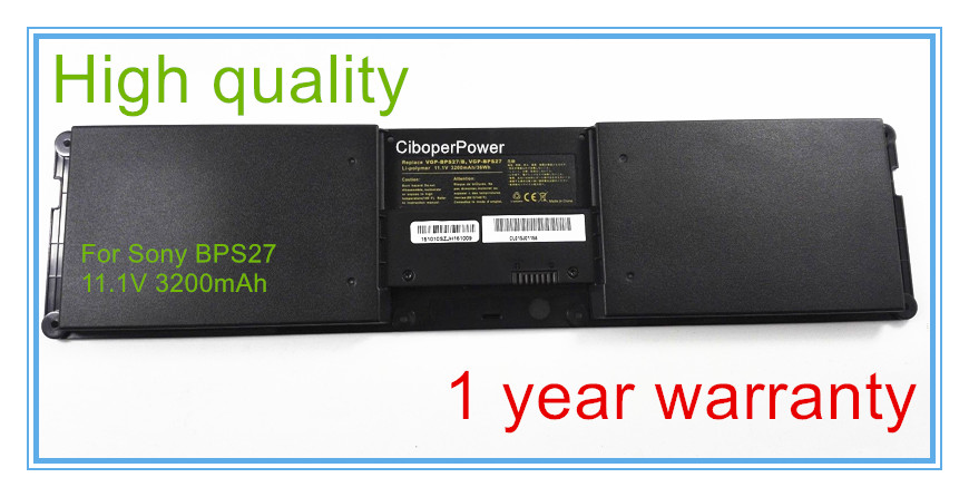 New 3200mah Laptop Battery BPS27 BPSC27 for VPCZ21V9E VPCZ21V9E VPCZ21M9E VPCZ21 VPCZ214GX VPCZ213GX Series new original vgp bpsc27 laptop battery for sony bps27 bpsc27 vpcz21v9e vpcz21v9e vpcz21m9e vpcz21 vpcz214gx vpcz213gx 11 1v 49wh