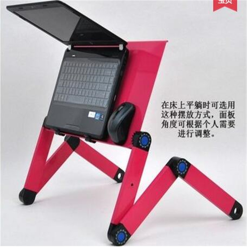 lightweight  Aluminium Alloy Portable  Laptop Multi Functional desk  Notebook  table with Mouse Pad stand on bed