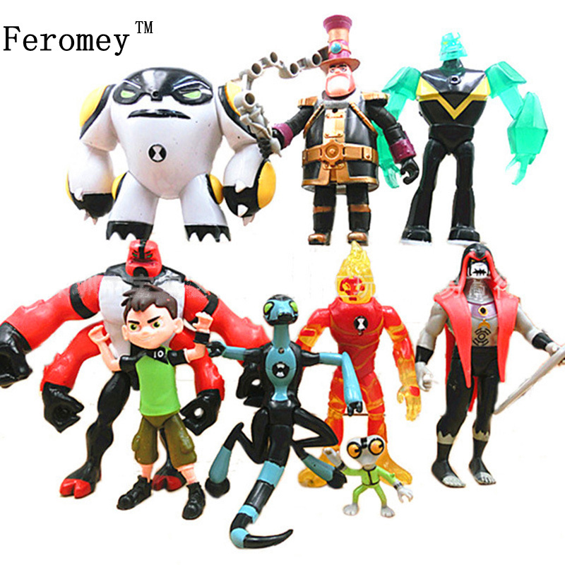 Japan Ben 10 PVC Figure Toy Ben10 Action Toy Figures Gift For Children Birthday Present 9pcs/set