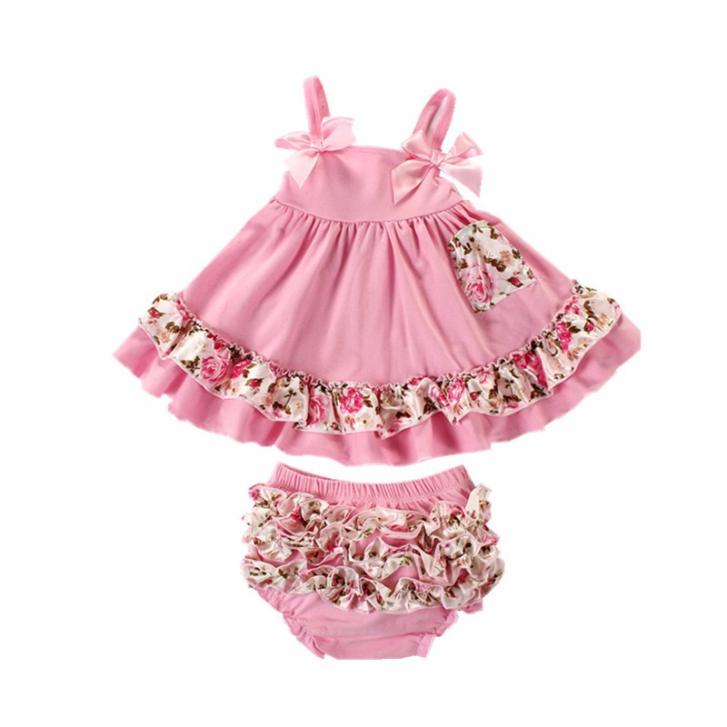 9d3d42079dcc9 2017 Baby Girl Clothes Summer Newborn Baby Girl Clothing Baby Dress Infant  Sling Bat Roupas Body Bebes Next Baby Dress Set USD 17.10/set