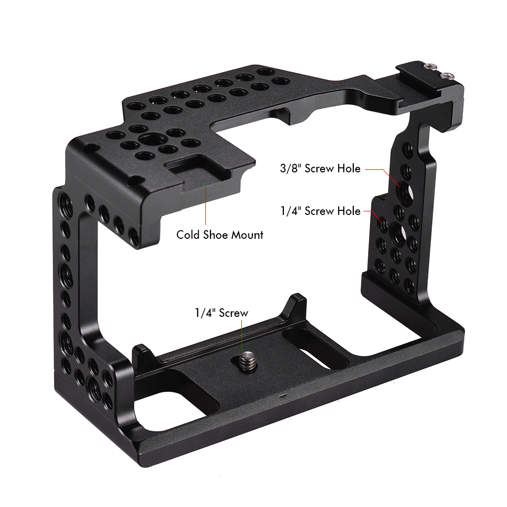 """Andoer Video Film Movie Making Stabilizer Aluminum Alloy 1/4"""" Screw Camera Cage for Sony A7II/A7III/A7SII/A7M3/A7RII/A7RIII-in Camera Cage from Consumer Electronics    3"""