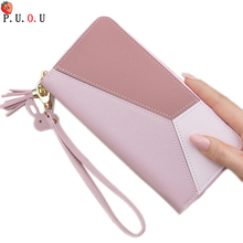 Splice Women Clutch Pink Blue Wallets Phone Pocket Purse Card Holder Patchwork Women Long Wallet Lady Fashion Short Coin Burse 6 3 fold pu leather women wallet clutch famous brand design ladies purse card phone holder notecase clutch long burse coin pocket