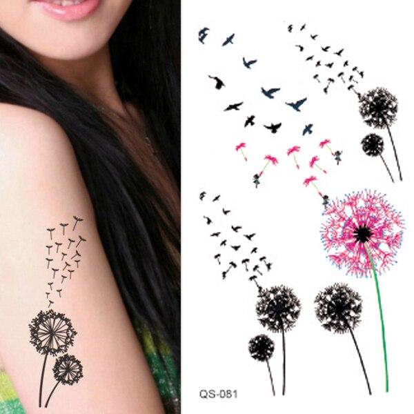 12 Unidslote Etiqueta Engomada Del Tatuaje Impermeable Coloreado