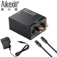 Aikexin ЦАП цифро-аналоговый преобразователь Toslink коаксиальный Оптический к R/L RCA адаптер с оптического кабеля для аудио дома Театр