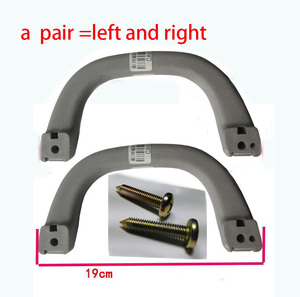 Image 1 - A Pair Beige Roof Handle With Screws for Mitsubishi Pajero armrest V31 V32 V33 Montero Shogun MK3 MK2