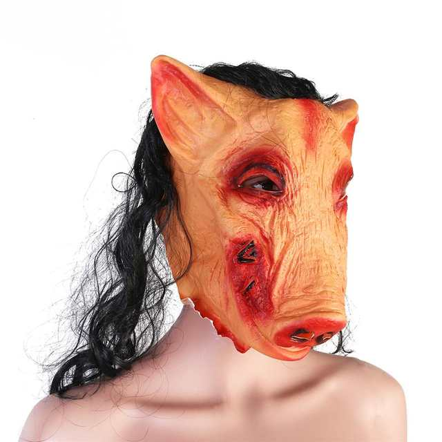 faee3ca17da4e US $6.84 40% OFF|New Halloween Party Cosplay Animal Mask Latex Wolf Pig  Pigeon Lion Mask Disguises Of Rabbits Face Head Mask-in Party Masks from  Home ...