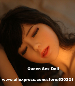 WMDOLL 39#  top quality sex doll head for silicone dolls with close eyes, sex toys for men, oral sex products