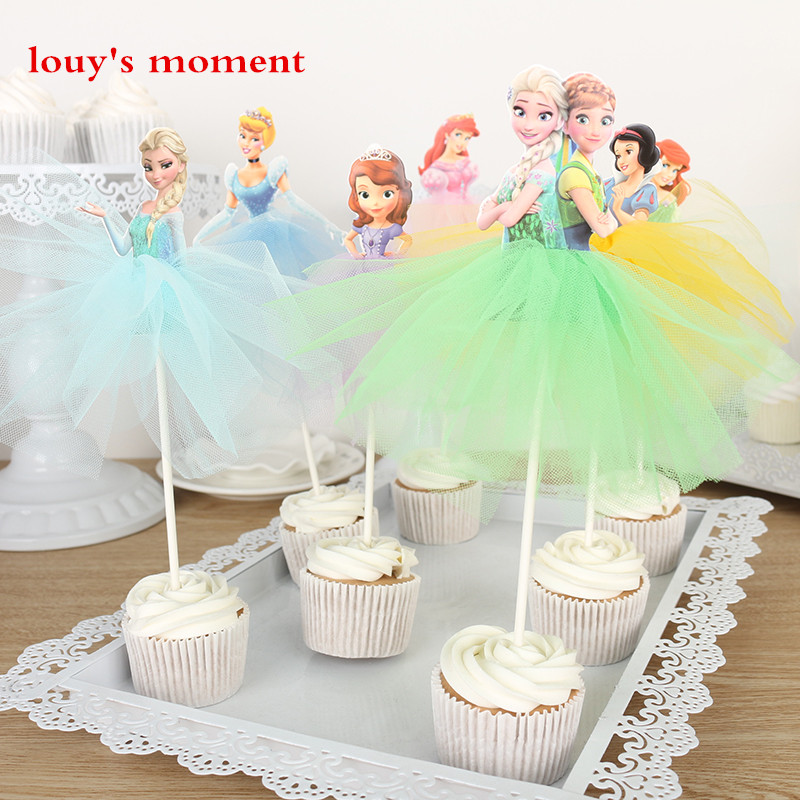 Free Shipping 4 X Handmade Princess Cupcake Toppers Girls ...
