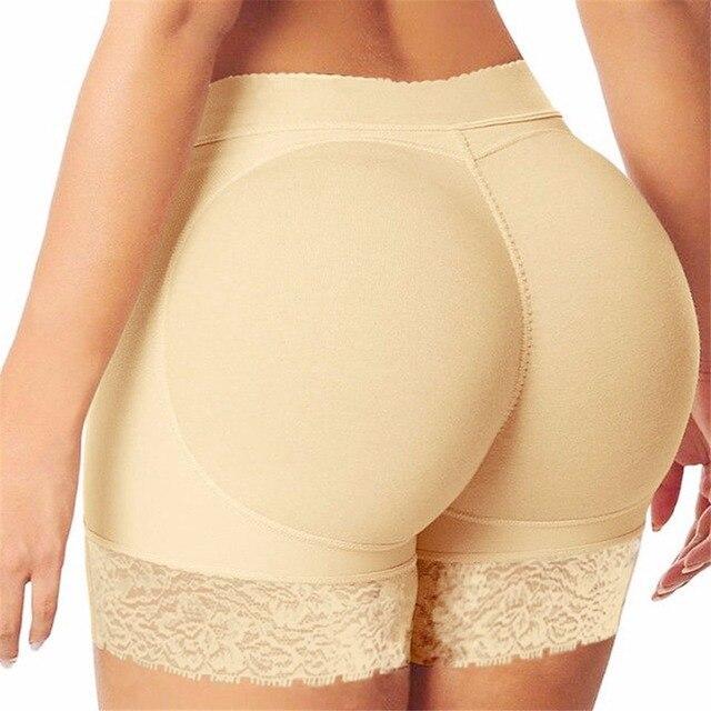 9edeff5488f Beige Brazilian butt lifter buttock with pad panty Booty LIfter Boyshort  butt lift up underwear women knicker Butt Enhancer E42