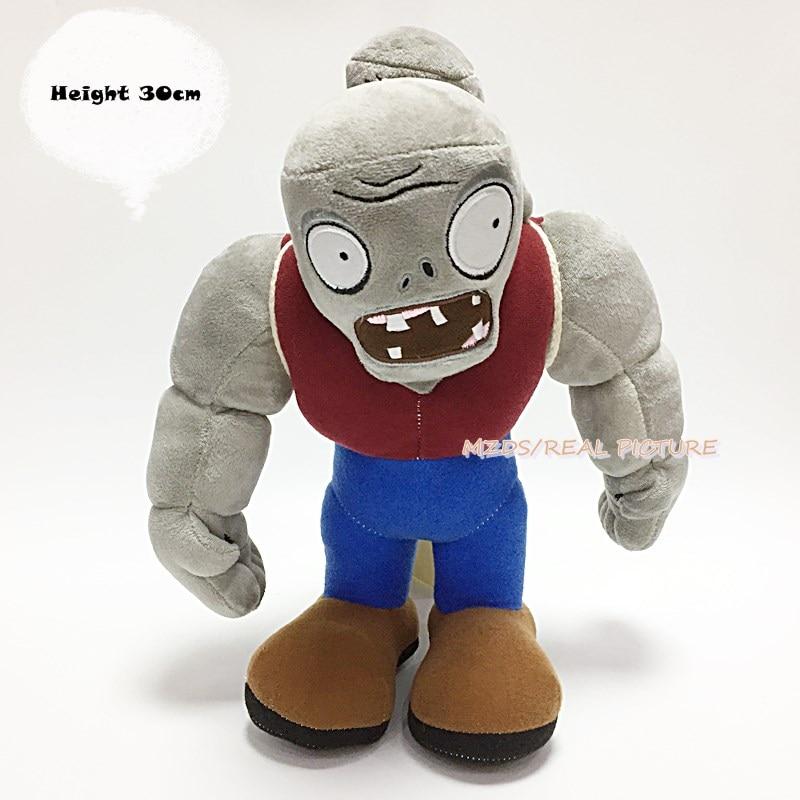 US $15 19 5% OFF|Plants vs Zombies Gargantuar 30CM Plush Toys PVZ Cartoon  Soft Stuffed Dolls Children Birthday Gift-in Action & Toy Figures from Toys