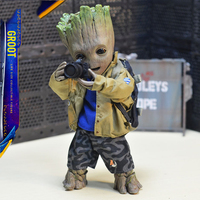 Life Size groot Marvel Guardians of The Galaxy Avengers Cute Baby Young Tree Man 25CM Action Figure KO's HT Hot Toys Legends