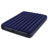 INTEX 68759 183*203*22CM 2 3 Person Use Flocking Ultralarge Air Mattress Folding Bed Beach Inflatable Mat With Electric Pump
