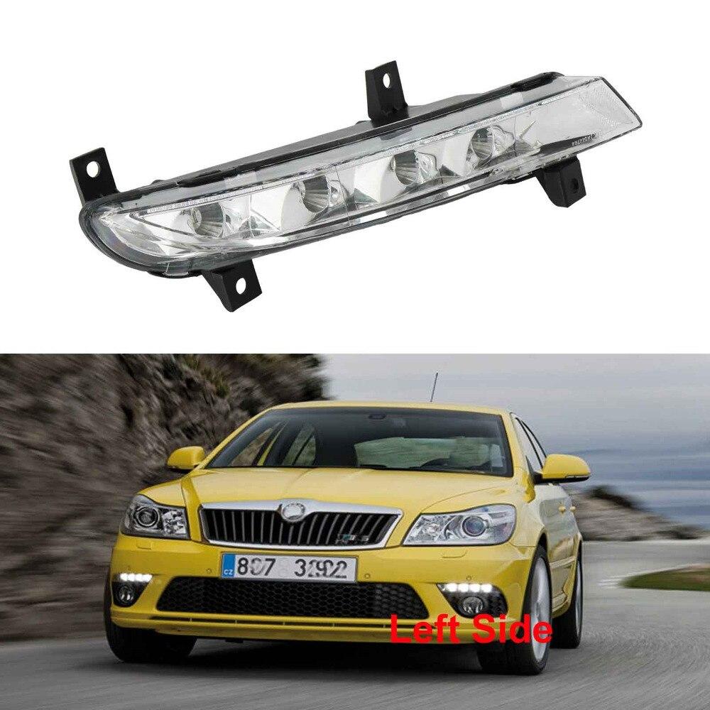 Left Side Car LED Light For Skoda Octavia A5 A6 RS 2009 2010 2011 2012 2013 LED DRL Daytime Running Light 2009 2011 year golf 6 led daytime running light
