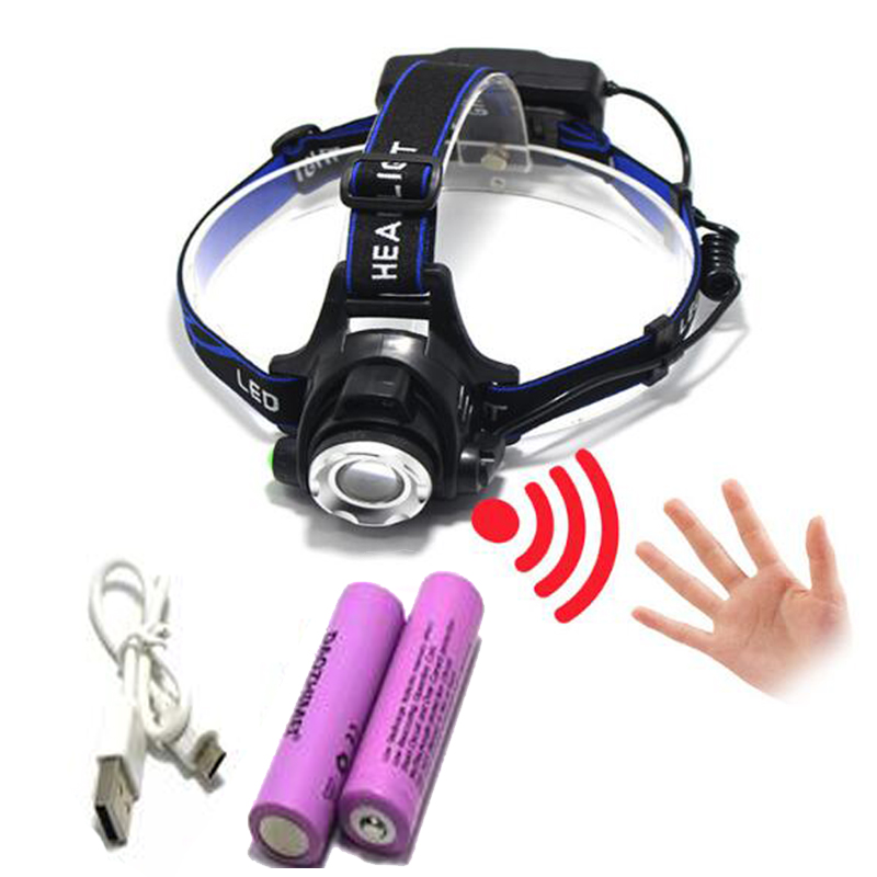IR Sensor Headlight Induction Micro USB Rechargeable Lantern CREE XM L2 XML T6 Headlamp 3800 Lumen Flashlight Head Torch18650 sitemap 34 xml
