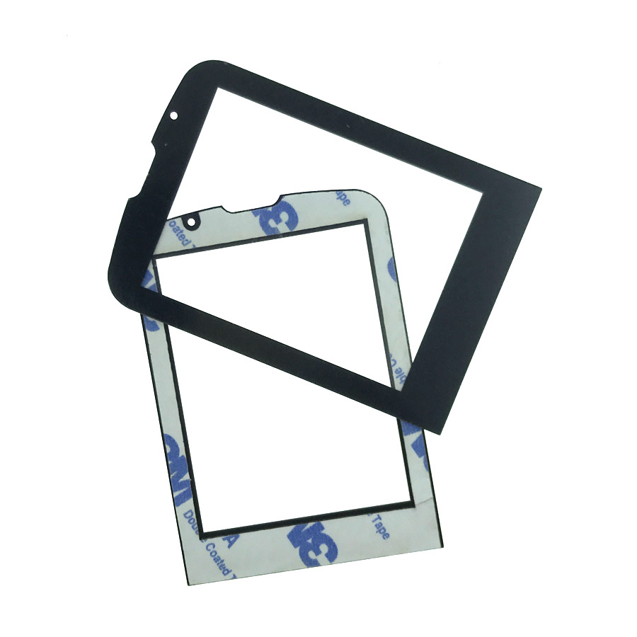 2pcs NEW For <font><b>PHILIPS</b></font> Xenium <font><b>E560</b></font> CTE560 Front panel lens Not Glass Touch Screen With 3M 9448A double faced Adhesive sticky Tape image