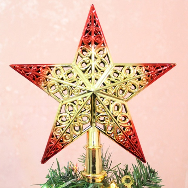 20cm christmas tree top star topper for table ornament xmas decorative