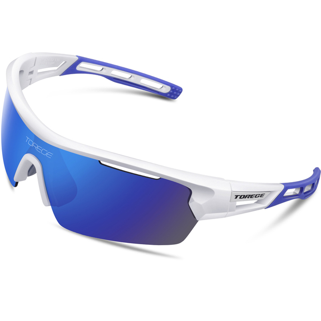 315074c345b60 Torege Polarized Sports Sunglasses With 4 Lenes for Men Women Cycling  Running Driving Fishing Golf Baseball Glasses TR90 Frame-in Cycling Eyewear  from ...