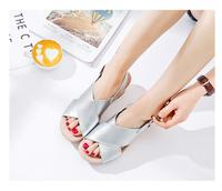 Free Shipping Slope With Sandals Female Summer Waterproof Platform 2017 New Thick Bottom Suede Sandals Casual