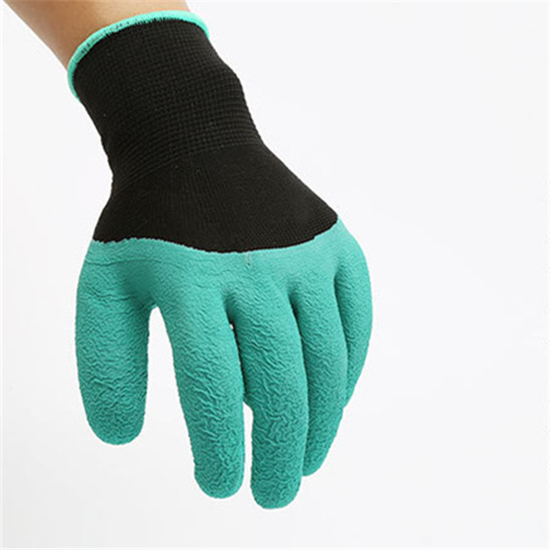 Garden Gloves 4 Hand Claw Abs Plastic Rubber Gloves Quick Excavation Plant Waterproof Insulation Home Living Essential Gadgets Reputation First Garden Tools Garden Gloves