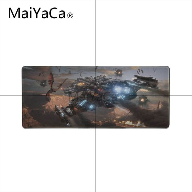 MaiYaCa  Starcraft Laptop Gaming Mice Mousepad Locking Edge Rubber Large Mousepads for DOTA2 Game Playing Lover 2
