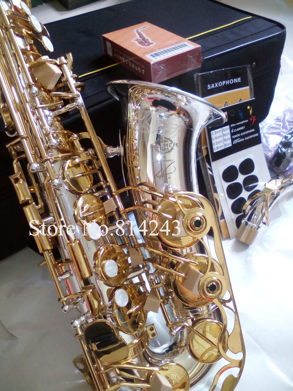 Copy France Henri Selmer 54 Alto Eb Saxophone Silvering Surface Of The Pipe Body Gold Key Sax High Quality Instruments With Case marca reeds tradition alto saxophone 3 2 boxes of 10