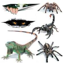 OCT-30 3D Spider Scorpion Chameleon Animal Print Car Window Bumper Body Decal Sticker Waterproof