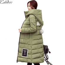 1PC Hooded Parkas For Women Winter Coat Winter Jacket Women Cotton Padded Long Coats Jaqueta Feminina Manteau Femme ZZ3588
