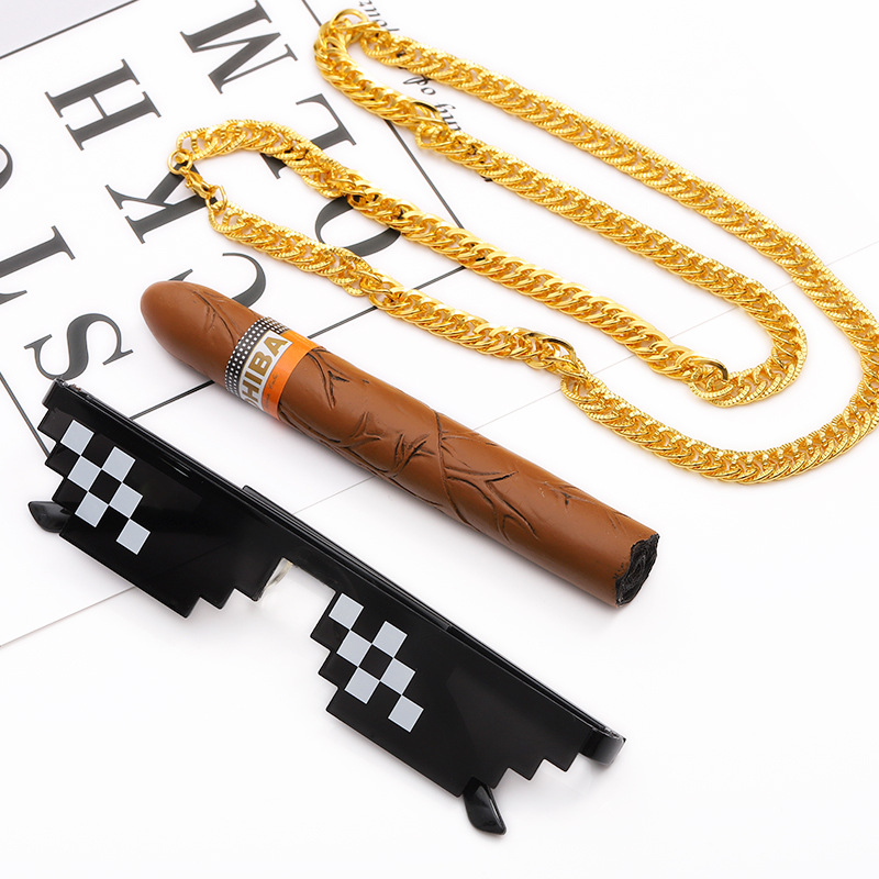 Yooske Thug Life-bril Hoeden Necklace Deal With It Zonnebrillen Dames Heren Merk Designer Thug Life Maker Pixel Zonnebril