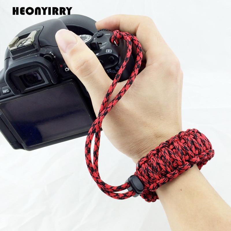 Newest Digital Camera Wrist Hand Strap Grip Paracord Braided Wristband for Nikon Canon Sony Pentax Minolta Panasonic SLR DSLR