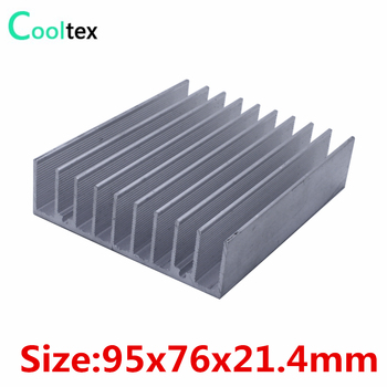 10pcs/lot  95x76x21.4mm Aluminum heatsink radiator heat sink for electronic Chip LED cooling