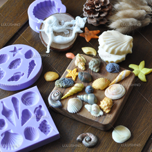 Baking tool gum paste Sea shell ocean sea snail fondant cake fondant tool silicone cake mold
