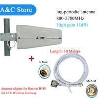 Huawei b880 4g lte không dây cổng cách bên ngoài log định kỳ yagi antenna high gain factory outlet antenna với 10 mét cáp