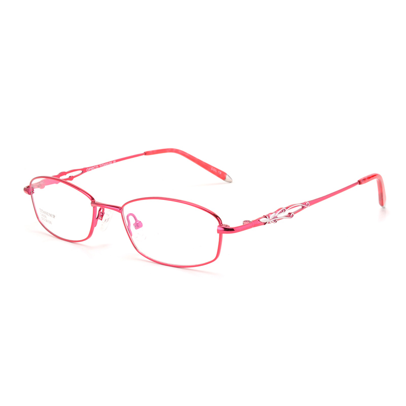High quality Pure titanium Spectacle frames woman Optical eyeglasses full eyewear frame business prescription glasses myopia8100
