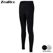 Zealtoo Warm 2018 Women Winter Thermal Fleece Black Cycling Long Bicycle Pants 3D Gel Pad Bike Bib Tights Mtb Ropa Ciclismo недорого