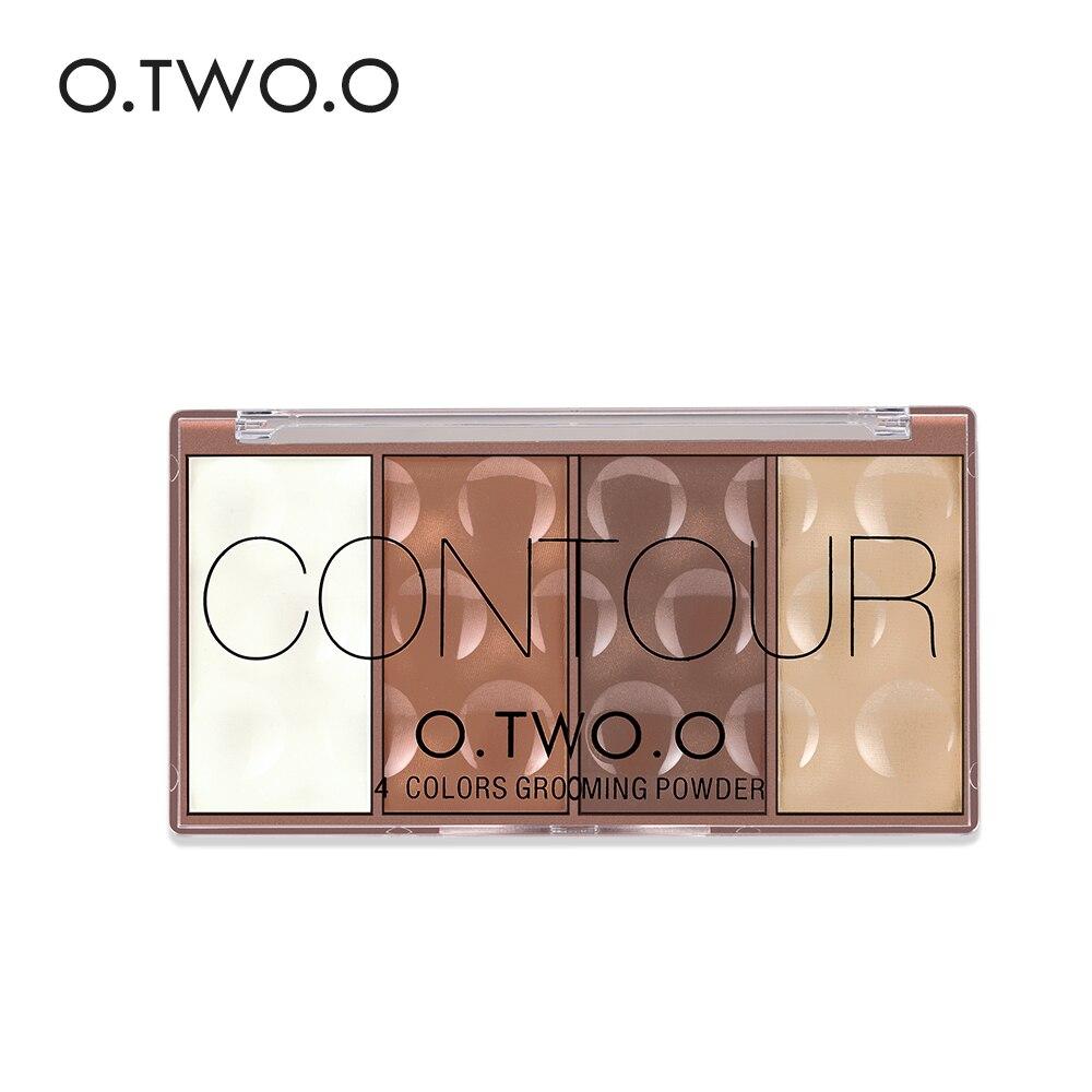 Makeup O.two.o 4colors Concealer Palette Face Makeup Base Contouring Palette Foundation Concealer Powder