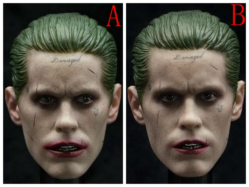 1/6th doll Accessory Jared Leto Suicide Squad headsculpt joker head shape for 12 Action figure,Not included body and clothes 1 6 batman joker heath ledger mask headsculpt for 12inch doll parts body clothes and body are not included