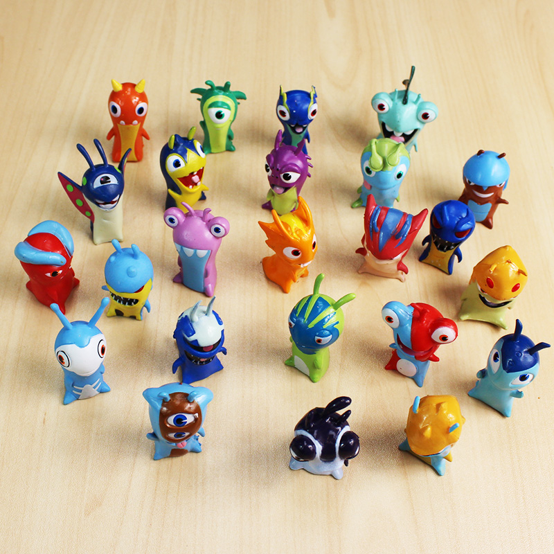 Image 2 - 24pcs/lot 4 5cm Cartoon Slugterra PVC Action Figures Toys Dolls Christmas Gift for Children-in Action & Toy Figures from Toys & Hobbies