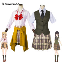Anime Citrus Cosplay Costume Aihara Yuzu Aihara Mei Synthetic Wigs Cosplay Women Girls School Uniform Carnival Party Costumes